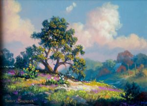 Verbena Pasture Original by Barry Shadrock
