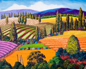 Rolling Hills, Original by Gene Brown