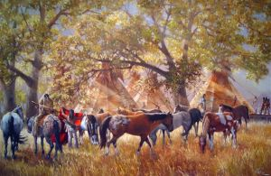 Cottonwood Encampment by Jay Hester