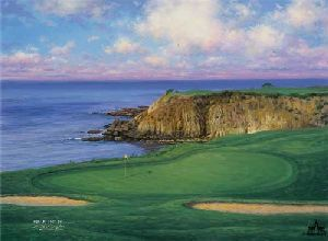 The 8th at Pebble Beach by Larry Dyke
