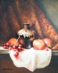 Brown Jug & Apple, Original by Laura Antony