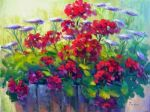 Summer Geraniums, Original by Barbara Larimore