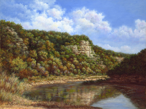 Bluffs along the Frio by Shirley Montgomery