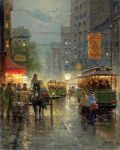 Old Dallas - Main Street by G. Harvey