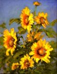 Sunflowers, Original by Barbara Larimore