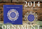 The Official State of Texas Ornament 2014