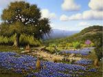 Bluebonnets and Cactus by Larry Prellop