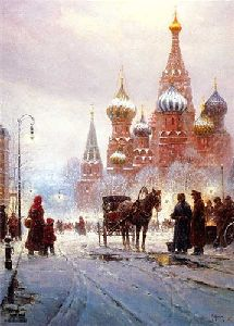Cathedral of St. Basil - Red Square by G. Harvey