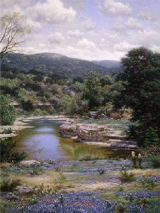Bluebonnets Along the Frio by Larry Dyke